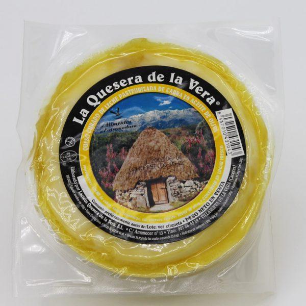 Comprar queso de cabra curado en aceite de oliva virgen envasado
