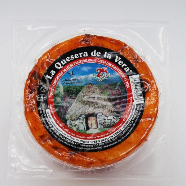Comprar queso de cabra con pimentón envasado