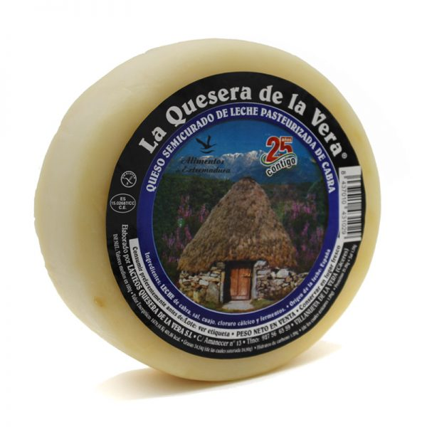Queso de cabra semicurado natural