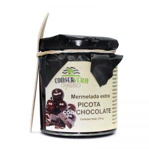 Mermelada de picota con chocolate