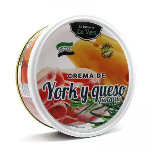 Crema de york y queso fundido